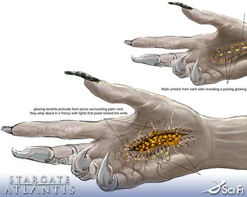 Stargate: atlantis - skica - ruka wraithov