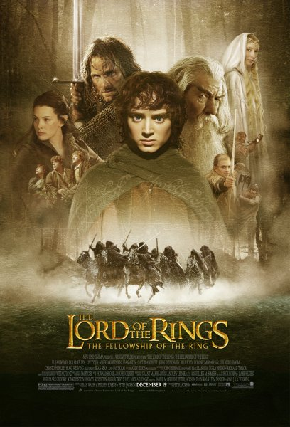 Lord of the Rings: The Fellowship of the Ring, The - Theatrical poster