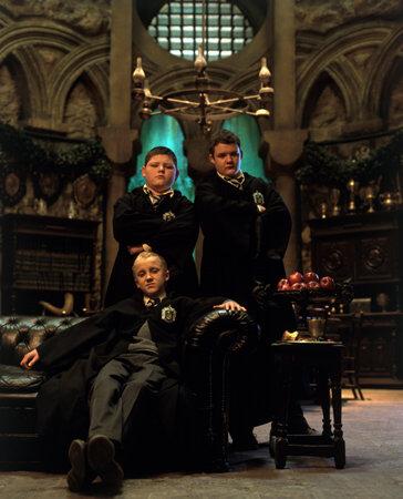 Draco Malfoy, Crabbe a Goyle