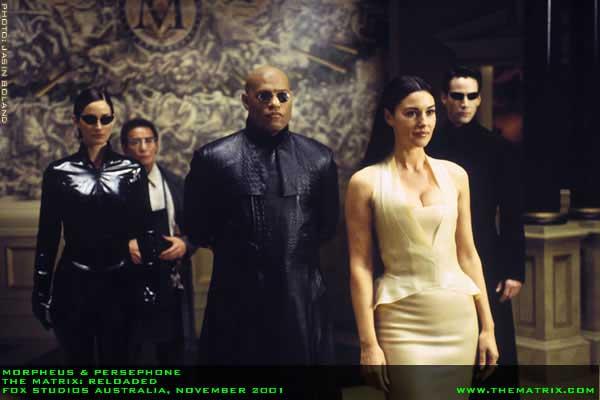 Matrix Reloaded - Persephone, Morpheus, Trinity a Neo