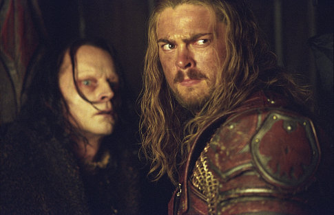 Eomer a Grima Wormtongue