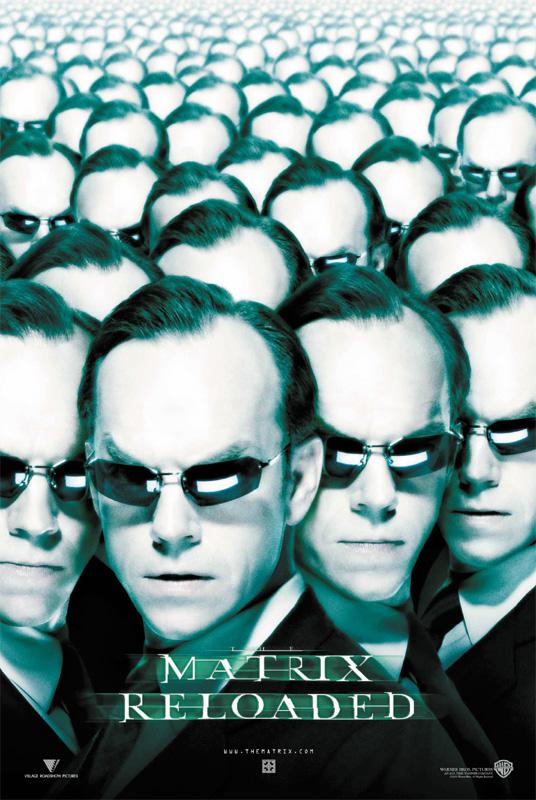 Matrix Reloaded - Intl Poster - agent Smith