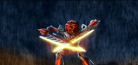 Bionicle: Mask of Light - Toa Tahu bojuje