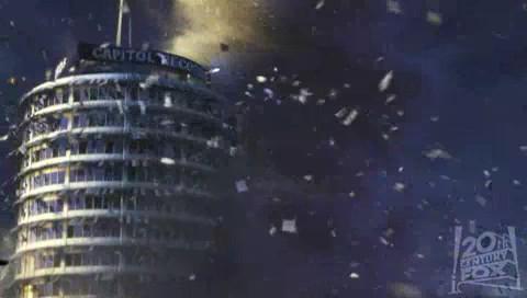 Day After Tomorrow, The - rozpadajúca sa budova