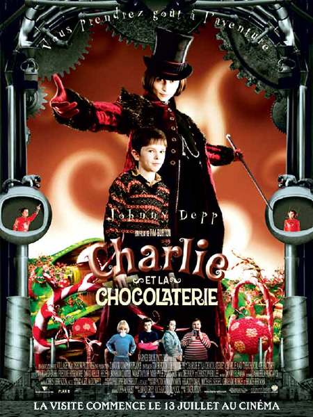 Charlie and the Chocolate Factory - Poster - Willy Wonka a Charlie - Francúzsko