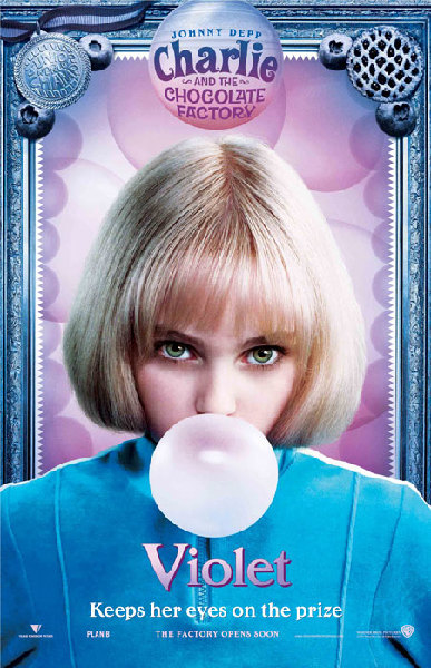 Charlie and the Chocolate Factory - Poster - Violet