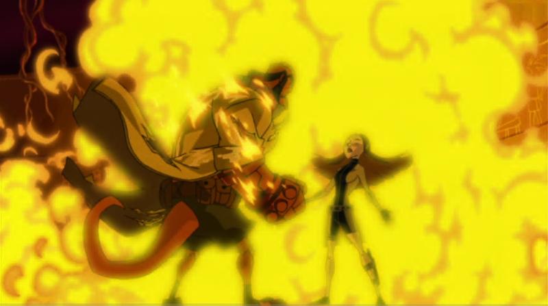 Hellboy: Sword of Storms - Liz a Hellboy v ohni