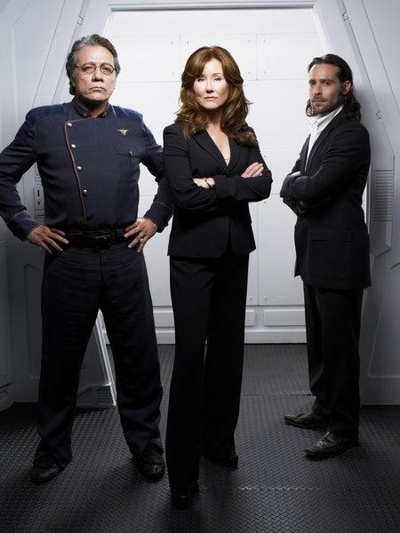 Battlestar Galactica - 3. séria - Adama, Roslin a Baltar