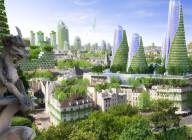 Solarpunk: Ekologické a fantastické príbehy v udržateľnom svete - Obálka - EN