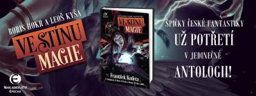Ve stínu magie. Obálka prvého českého vydania (Epocha, 2019)
