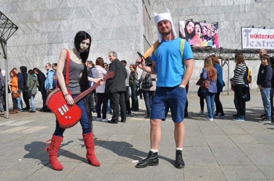 Adventure Time with Finn & Jake - Cosplay - Marceline a Finn