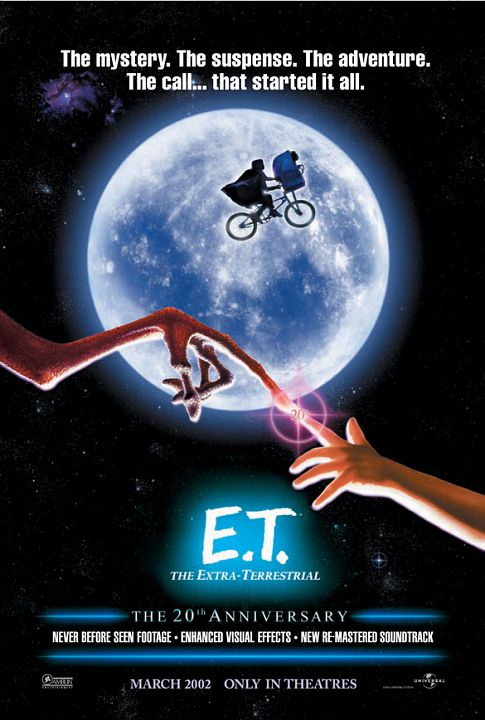 E.T. The Extra-Terrestrial - 20th anniversary poster